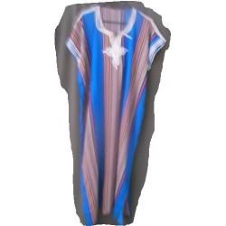 Djellaba bleue foncée à rayures verticales