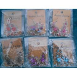 Boucles d'oreilles fleur toutes les couleurs